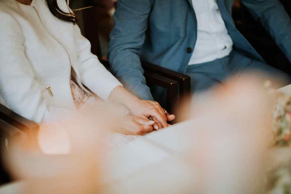 dettaglio durante matrimonio civile