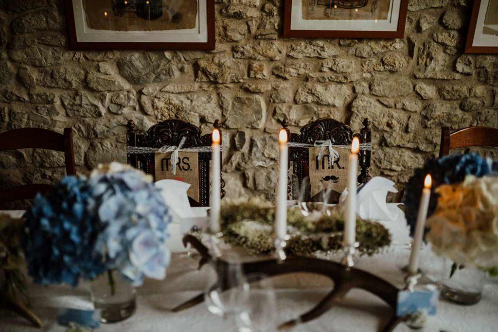 candele tavolo matrimonio luca e cristina